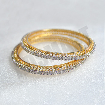 Designer Single line AD Bangles With Excellent Polish & Finish