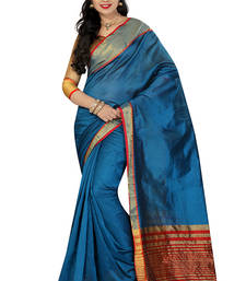 Buy multicolor woven chanderi saree With Blouse handloom-saree online