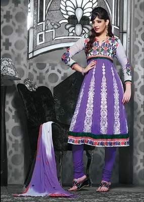 Designer Anarkali Dress Material SC1123
