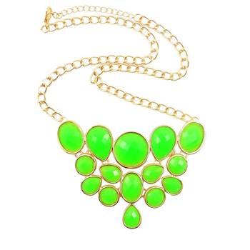 Green Revolution on Elm Street Designer Gemstone Necklace