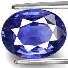 6.25 carat natural blue sapphire (neelam) gemstone with lab certified