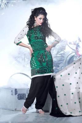 Cotton Embroidered Salwar kameez Dress Material SC1517