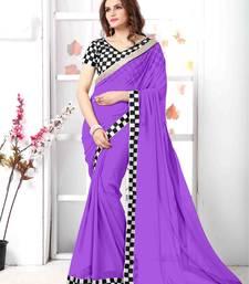Buy Purple embroidered chiffon saree with blouse chiffon-saree online