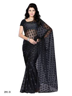 Graceful party wear fancy designer saree by DIVA FASHION-Surat
