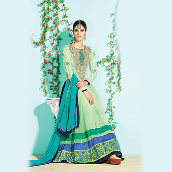 Green Floor Touch Anarkali