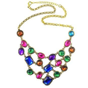 Gemstone Glory Goddess Bollywood Celebrity inspired Statement Necklace