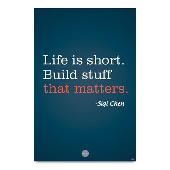 Life Quote By Siqi Chen Poster