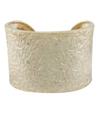 Golden Floral Delight Cuff