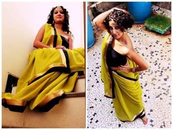 Mehendi Green Saree