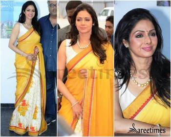 Bollywood replica sridevi marbel saree printed.saree