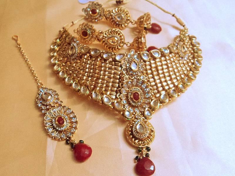 Buy Designer Bridal Kundan L Polki Set Online