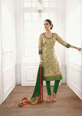 Ravishing Satin Cotton Multi Color Salwar Kameez
