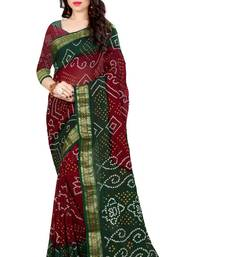 Buy Green hand woven Bandhani saree With Blouse bandhani-sarees-bandhej online