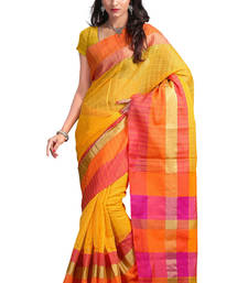 Buy multicolor printed silk saree with blouse art-silk-saree online