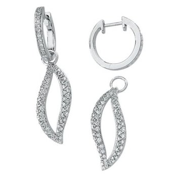cara sterling silver and certified Swarovski stone studded detachable baali cum long earrings for women