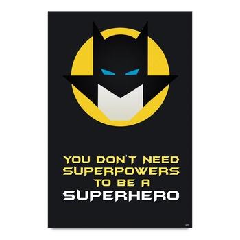Batman Superhero Quote Poster