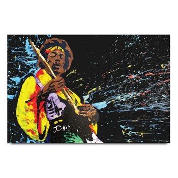 Jimi Hendrix Playing Guitar Poster