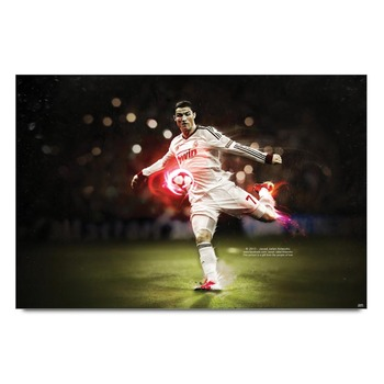 Ronaldo Scoring Goal  Poster