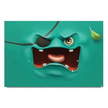 Pirates Blue Poster