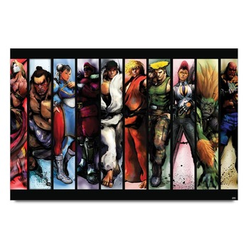 Street Fighters Characters Poster