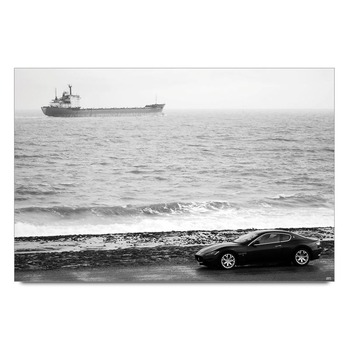 Seaside Drive Maserati Poster