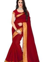 Buy Red printed cotton silk saree With Blouse cotton-silk-saree online