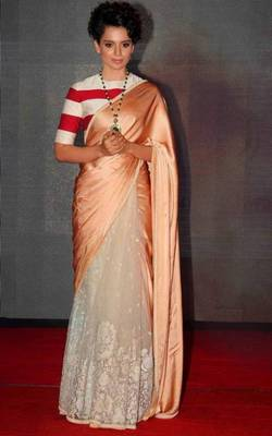 Kangana in designer saree