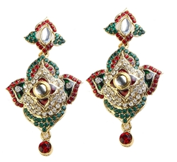 Dealtz Fashion Red & Green Elegance Earrings
