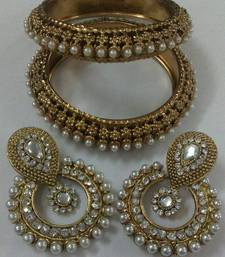 Buy Designer Earings with Traditional Kadas eid-jewellery online