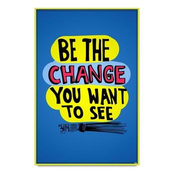 Aap Change Quote Poster