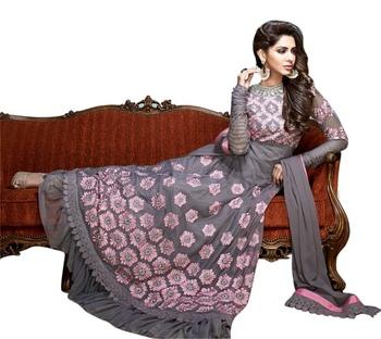 Triveni Captivating Floral Embroidered Anarkali Suit TSVSPSK2603