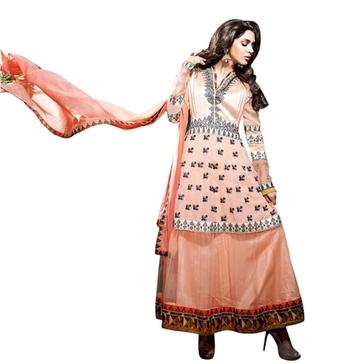 Triveni Dashing Floral Embroidered Net Anarkali Suit TSVSPSK2609