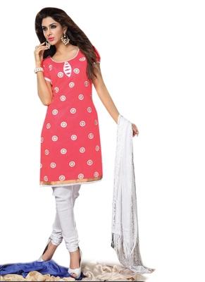 Triveni Charming Floral Embroidery Cotton Salwar Kameez TSRCPD4SK06