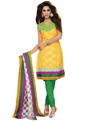 Triveni Pretty Bright Colored Embroidered Salwar Kameez TSRCPD4SK08