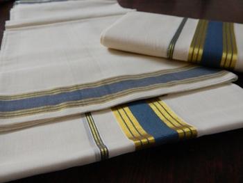 Kerala Handloom 2 piece mundu set for women