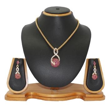 Pink studded_jewellery Diamond Pendants