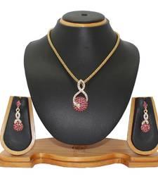 Buy Pink studded_jewellery Diamond Pendants Pendant online