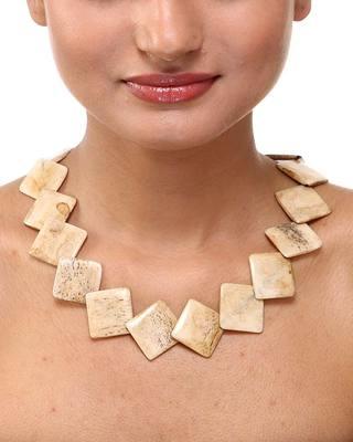 White Square designer Fashion Neckpiece