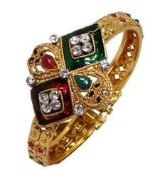 Buy Maroon studded_jewellery Diamond bangles-and-bracelets bangles-and-bracelet online
