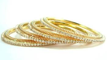 Faux pearl rhinestone bridal 2pc bangle l8829