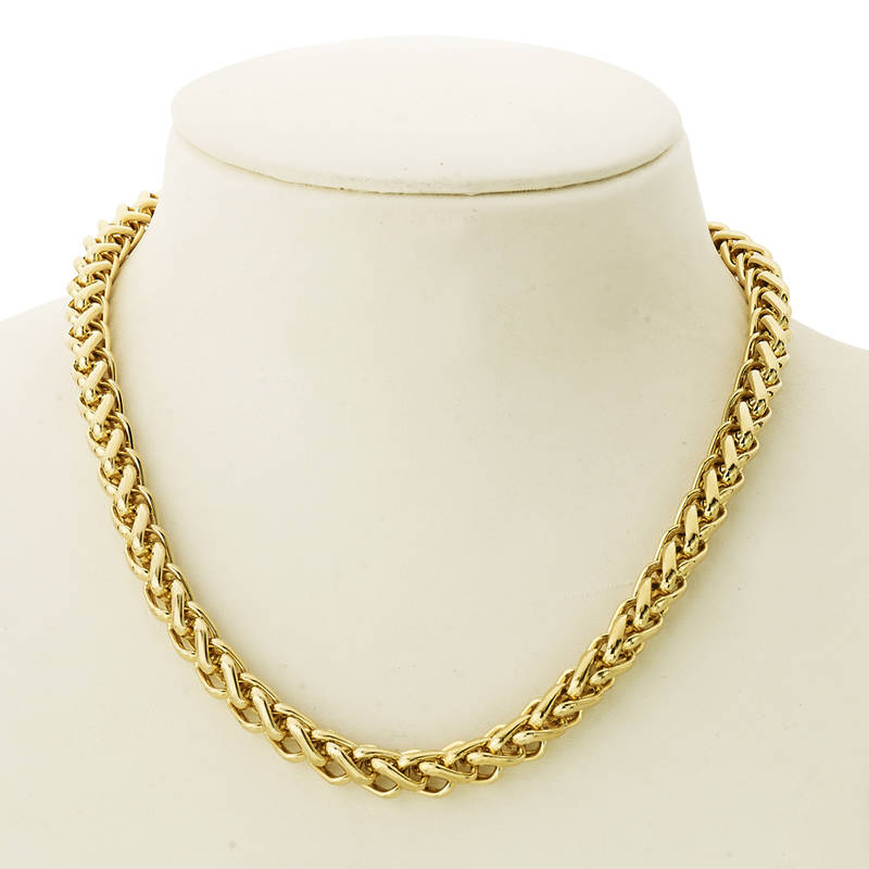 Buy BeBold Gold Stainless Steel Gold Plated Link Stylish Chain for ...