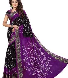 Buy Violet hand woven jacquard saree With Blouse black-friday-deal-sale online