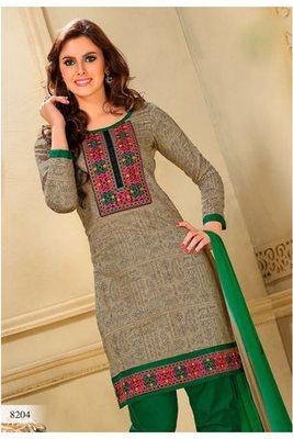 Casual Wear Beige Dress Material