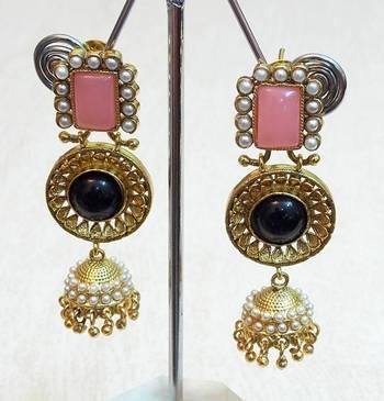Celebrity Classic and elegant rajwadi collection earring dangler jewelry