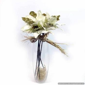 Glitter Velvet Orchids - White