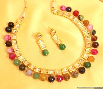 Multicolour Kundan Meenakari Necklace Sets