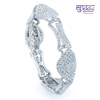 Sukkhi Rhodium Plated Flexible AD kada