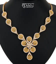 Buy Sukkhi Gold Plated AD stone Neackalce Stone necklace-set online