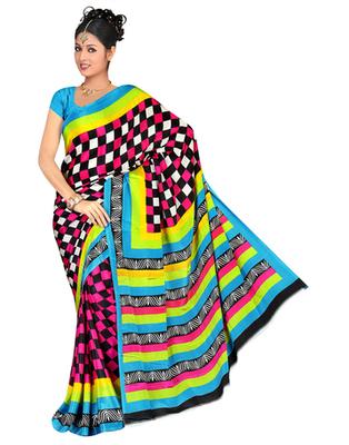 Dealtz Fashion Multi Color Gadwal Silk Saree