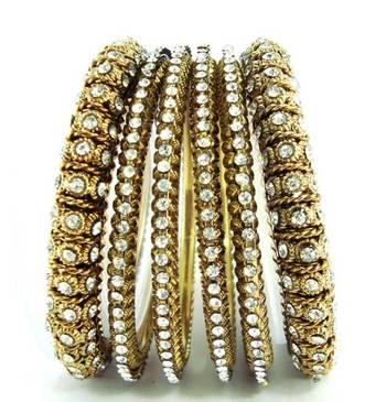 6pc antique style bridal bangle me03
